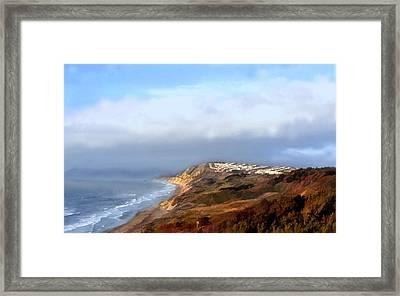 Panoramic California Coast Framed Print