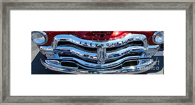 Panoramic Chevy Grill Framed Print
