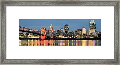 Panoramic Cincinnati Ohio Framed Print by Frozen in Time Fine Art Photography