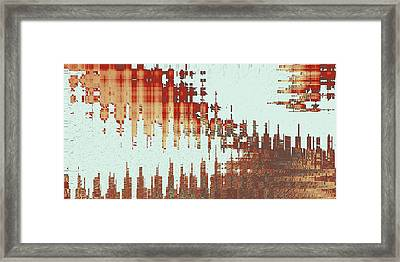 Panoramic City Reflection Framed Print