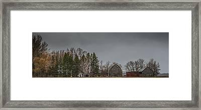 Panoramic Farm Scene Framed Print by Paul Freidlund
