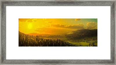 Panoramic Hillside Framed Print by Lonnie Christopher
