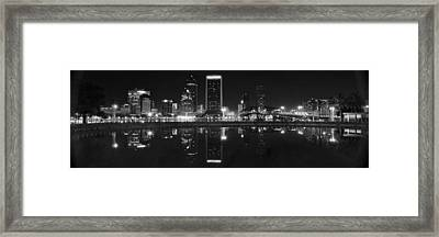 Panoramic Jacksonville Night Framed Print by Frozen in Time Fine Art Photography