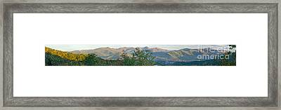 Panoramic Mountains Framed Print by Boon Mee