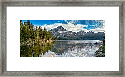 Panoramic Of Anthony Lake Framed Print by Robert Bales