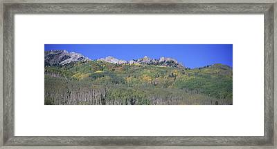 Panoramic Of Autumn Color Framed Print