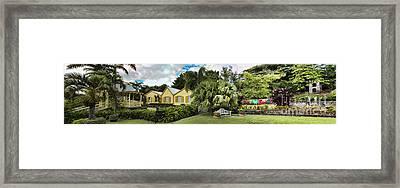 Panoramic Of Batik Studio In St  Kitts  Framed Print