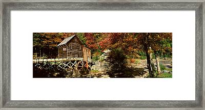 Panoramic Of Glade Creek Grist Mil Framed Print by Panoramic Images