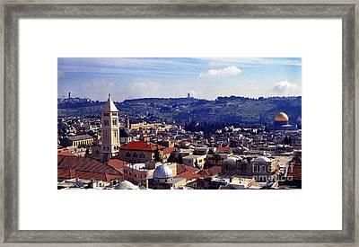 Panoramic Of Jerusalem Framed Print