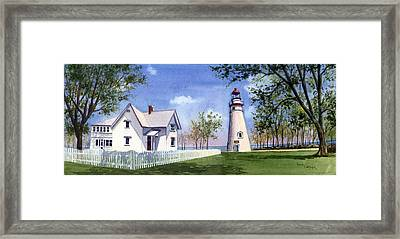 Panoramic Of Marblehead Framed Print by Terri  Meyer