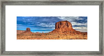 Panoramic Of Merrick Butte Framed Print