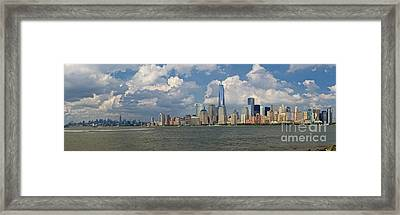 Panoramic Of New York City Framed Print