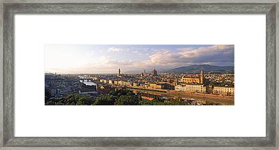 Panoramic Overview Of Florence Framed Print by Panoramic Images