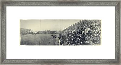 Panoramic Photo Of Harvard  Dartmouth Football Game Framed Print by Edward Fielding