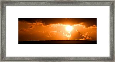 Framed Print featuring the photograph Panoramic Photo Of Sunset At Monkey Mia  by Yew Kwang