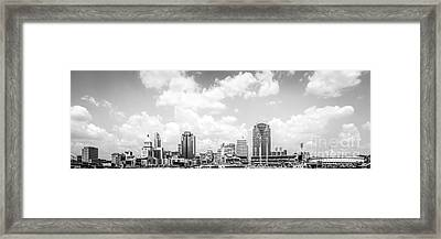 Panoramic Picture Of Cincinnati Skyline Framed Print by Paul Velgos