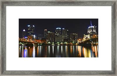 Panoramic Pittsburgh Framed Print by Frozen in Time Fine Art Photography