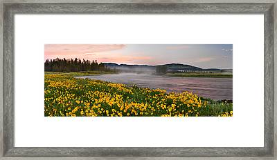 Panoramic Spring Framed Print by Leland D Howard
