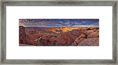 Panoramic Sunrise Over Dead Horse Point State Park Framed Print