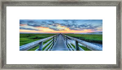 Panoramic View Bass Hole Boardwalk Framed Print