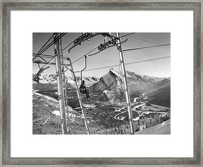 Panoramic View In Alberta Framed Print