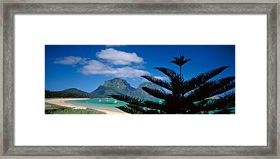 Panoramic View Of A Coastline, Lord Framed Print