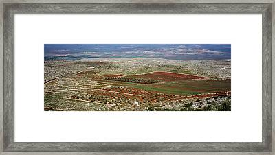 Panoramic View Of A Landscape, Aleppo Framed Print by Panoramic Images