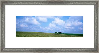 Panoramic View Of A Landscape, Marshall Framed Print by Panoramic Images