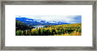 Panoramic View Of A Landscape, Yukon Framed Print