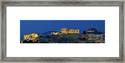 Panoramic View Of Acropolis Of Athens Framed Print