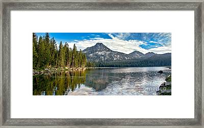 Panoramic View Of Anthony Lake Framed Print by Robert Bales