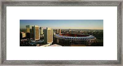 Panoramic View Of Busch Stadium Framed Print
