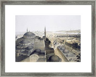 Panoramic View Of Constantinople Framed Print by Gaspard Fossati