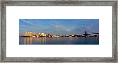 Panoramic View Of Delaware River Framed Print by Panoramic Images