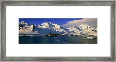 Panoramic View Of Ecological Tourists Framed Print