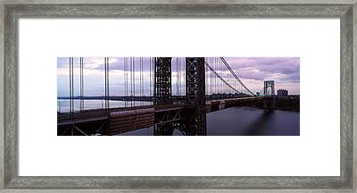 Panoramic View Of George Washington Framed Print