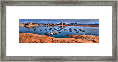 Panoramic View Of Lake Powell Framed Print