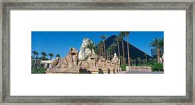 Panoramic View Of Luxor Hotel Framed Print