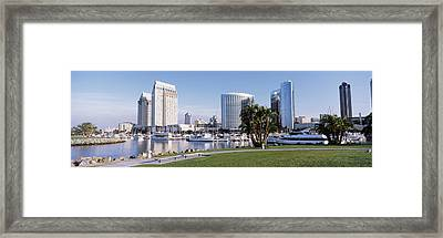 Panoramic View Of Marina Park And City Framed Print by Panoramic Images