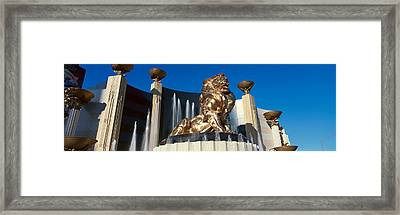 Panoramic View Of Mgm Lion And Mgm Framed Print by Panoramic Images