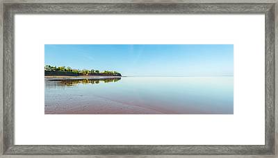 Panoramic View Of Minas Basin At Low Tide Framed Print by Vadim Petrov