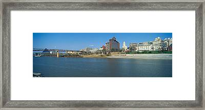 Panoramic View Of Mississippi River Framed Print