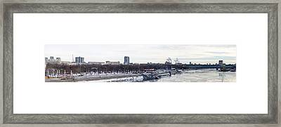 Panoramic View Of Moscow Gorky Park In Wintertime Framed Print