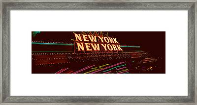 Panoramic View Of New York New York Framed Print