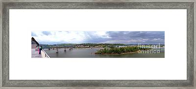 Panoramic View Of North Shore Chattanooga Tennessee Framed Print by   Joe Beasley