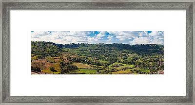 Panoramic View Of Orvieto In Italy Framed Print