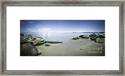 Panoramic View Of Tranquil Sea Framed Print by Evgeny Kuklev
