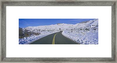 Panoramic View Of Winter Snow Framed Print by Panoramic Images
