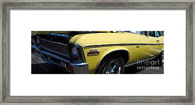 panoramic yellow Nova Framed Print