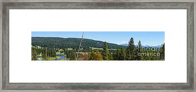 Panoramic Yellowstone Landscape Framed Print